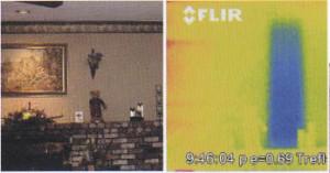 ・断熱材不足による壁面温度の低下箇所を発見!