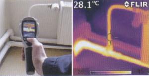 ・配管周辺の断熱効果の確認に!